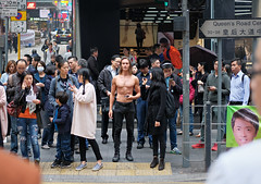 this spring is specially hot! (hugo poon - one day in my life) Tags: xt2 50mm hongkong central queensroadcentral people nude spring crowd waiting