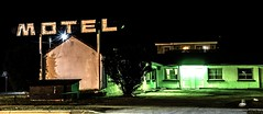 DSC_1005 (Cameron_McLellan) Tags: motel night nightlight lights nightphotography photo photography creepy twinpeaks vibe phonebooth booth fonebooth phone bell laundry toilet streets street intense cinematic cmfotography