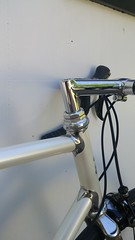 20170423_171705 (AR Cycles) Tags: ar cycles custom columbus true temper ox platinum kva stainless steel henry james lugs lugged road bike mechanical shimano dura ace pearl white paint polished fillet stem chrome internal cable routing