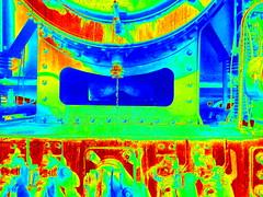 131.060 - Kunst 1 (Painting - Malen - Zeichnen) Tags: 131060 dampflok rumänischedampflok kunst künstlerischeveränderung bildbearbeitung farben wärmebild bleistift neon sepia 3fachhdr hdr