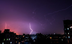 Lightning (Tahsan_Kabyo) Tags: nikon d90 lightning cityscape rain dhaka bangladesh architecture building exterior city danger night nature nopeople outdoors power sky thunderstorm asia world scene flickrriver