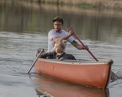 """We're catching feesh!"" (ardeth.carlson) Tags: fatherdaughter fishing canoe lake colorado"