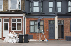Shades of Gray (SReed99342) Tags: london uk england gray grey painter walthamstow houses homes housing apartments flats house