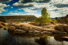 Boulders (seajon1) Tags: watson lake prescott arizona boulders clouds blue sky