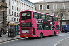 2353 SEZ 2353 Donegall Square West. (Ballyhenry) Tags: magenta bus 2353 volvo b9tl wrightbus