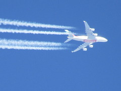 Emirates Airbus A380 High In The Sky (Gary Chatterton 3 million Views Thank You All) Tags: emirates emiratesairlines airbusa380 a380 highinthesky sky blue airliners aircraft flickr explore airbus