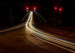Coming From PA In Color (John Kocijanski) Tags: lights lighttrails cars vehicles bridge streetphotography abstract canon24105mmf4l longexposure sullivancounty