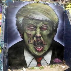 Trump graffiti, Tom Blackford, Shoreditch (duncan) Tags: trump donaldtrump streetart shoreditch tomblackford