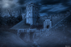 Dark Castle. (_Anathemus_) Tags: arundel castle medieval england uk dark moody foggy fog mist nikon d750 middle ages atmosphere misterious old wooden bridge