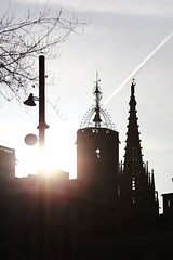 Barcelona (ISO 69) Tags: sunset barcelona roof spain espana catalunya dächer sonnenuntergang sonne sun