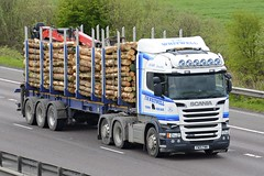FW15 FWW (panmanstan) Tags: scania r580 wagon truck lorry commercial timber freight transport haulage vehicle m18 motorway langham yorkshire