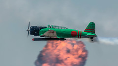 Attack On Peral Harbor-1 (4myrrh1) Tags: toratoratora ww2 wwii aircraft airplane aviation airshow airplanes airforce afb military maxwell al alabama japanese torpedo bomber bombrun explosion canon 7dii ef100400l