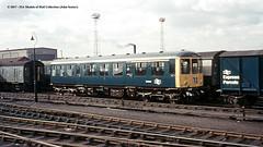 c.1969 - Doncaster, South Yorkshire. (53A Models) Tags: britishrail brcw class104 dmu dmcl e50555 diesel passenger doncaster southyorkshire train railway locomotive railroad