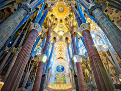 Inside Sagrada Familia (Stuck in Customs) Tags: x1d trey treyratcliff hdr hdrphotography sagrada familia spain barcelona inside church cathedral catholic aurorahdr 80stays rcmemories airnzphotocontest interflixcontest flixbus