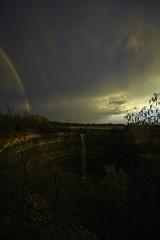 Ending of the First Unofficial Summer Day (wilbias) Tags: ontario canada sunset rainbow rain evening niagara storm thunderstorm vertical hamilton creek punchbowl escarpment devils stoney