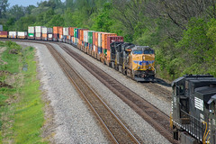 East Meets West (Andy Chabot) Tags: ns freight train track transportation railroad railway rail intermodal locomotive diesel up chabot columbus