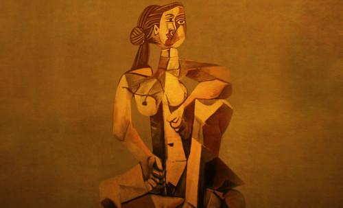 "Mujer Sentada, geometrización de Pablo Picasso (1953), abstracción de Roberto Real de León (2013). • <a style=""font-size:0.8em;"" href=""http://www.flickr.com/photos/30735181@N00/8805310929/"" target=""_blank"">View on Flickr</a>"