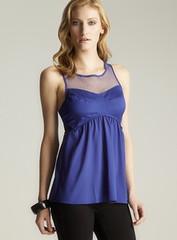 Romeo & Juliet Couture Zip Back Mesh Peplum (fashionloko.com) Tags: women shirts tops blouses womentopsblousesshirts