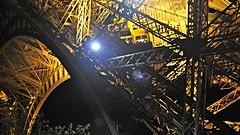 Eiffel Tower elevator, Paris (David McKelvey) Tags: paris france night europe tour lift elevator eiffeltower 2013