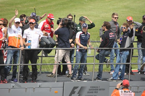 The Drivers' Parade at the 2013 British Grand Prix