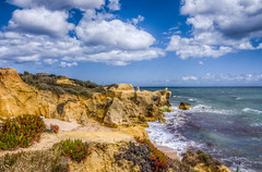 Algarve Coastline (_Rjc9666_) Tags: nikond5100 tokina1224dxii coastline rockformation cliff seascape sea algarve praiadagalé landscape cloudy day 343 hdr ©ruijorge9666 7