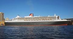 QM2 full broadside (PhillMono) Tags: ocean cruise 2 ship mary sydney australia olympus quay line queen cunard circular e30 liner