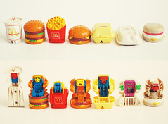 McDonalds Transformers (SOMETHiNG MONUMENTAL) Tags: childhood breakfast vintage toys nikon 1987 burger fastfood retro mcdonalds fries transformers 80s milkshake d60 somethingmonumental mandycrandell