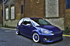 HDR carr 1 (AndyGrayPhotography) Tags: blue ford wheel st fiesta modified rims whores bbs lowered hdr bbsrims fordfiesta fordfiestast cambered