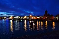 Cardiff Bay (Paula J James) Tags: southwales wales night reflections lights cloudy cardiff nighttime cardiffbay barrage groins pierheadbuilding southeastwales capitalofwales cardiffbayatnight cardiffharbour