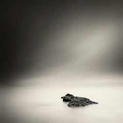 Serenity (Martin Mattocks (mjm383)) Tags: longexposure sky blackandwhite seascape water mono rocks horizon smooth coastline minimalistic cornwalllandscapes mjm383 martinmattocksphotography