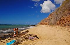 Solitude (jcc55883) Tags: ocean sky beach clouds hawaii nikon oahu shoreline pacificocean shore yabbadabbadoo d40 kaalawaibeach nikond40 diamondheadroad