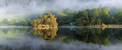 Misty Morning and Reflections (awhyu) Tags: water sunrise landscape rydal lakedistrict cumbria andrewyuphotography