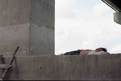 CATNAP (Zixbook.com) Tags: poverty life street wood travel bridge people color colour tourism stone photo nap vietnamese candid poor hard documentary calm vietnam catnap worker ladder calmness