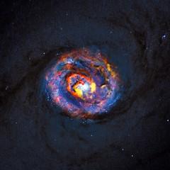 Λεπτομερής άποψη των κεντρικών σημείων του γειτονικού μας γαλαξία NGC 1433 (πηγή: ALMA(ESO/NAOJ/NRAO)/NASA/ESA/F. Combes/AFP/Getty Images)