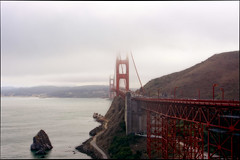 The Golden Gate Bridge (SergeK ) Tags: sanfrancisco road usa water golden gate san cloudy sfo goldengatebridge 2013 californie2013 bridgeroadsfosan sergekbridge