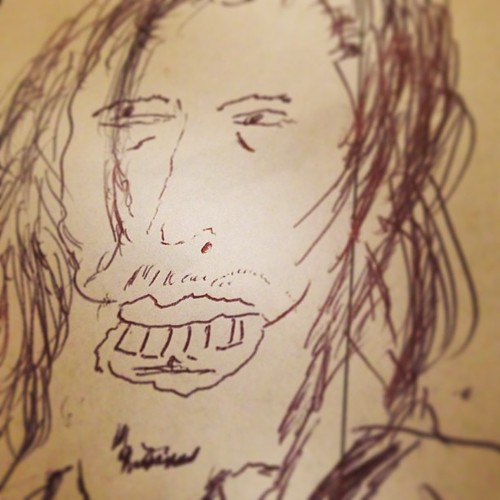 My new profile picture, as drawn by an eccentric Dutchman... #amsterdam