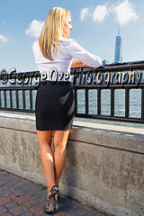 Low Angle Back View of a Woman in Black Skirt and White Blouse Standing and Looking Towards Lower Manhattan, Jersey City,New Jersey (George Oze) Tags: newyorkcity morning woman usa sexy vertical standing river outdoors newjersey model jerseycity highheels slim riverside manhattan unitedstatesofamerica working relaxing scenic lifestyle skirt trendy blonde attractive northamerica commuter manhattanskyline hudsonriver handrail relaxation sideview information youngwoman beautifulpeople fit confident sexylegs slender backview caucasian shapely whiteshirt hudsoncounty ipad blackskirt shoulderlengthhair lookingforward onewomanonly whiteblouse pencilskirt shapelylegs lowangleview caucasianethnicity modelphotography caucasianwoman fairskinned focusonforeground tonedbody highheelsshoes professionalwoman professionallook modernlook fullbodylength 3035yearsold mid30yearsold