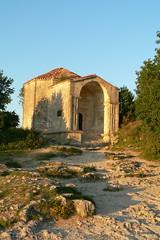 Бахчисарай, средневековый город-крепость Чуфут-Кале, мавзолей Джаныке-ханум, дочери хана Тохтамыша