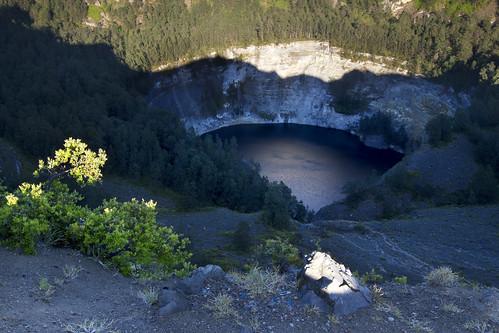 Black Volcanic Lake Ata Mbupu