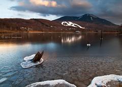 T h i s I s N o t A n E x i t (AnthonyGinmanPhotography) Tags: sunset lake frozen tateshina naganoprefecture leefilters olympuse30 megamiko olympus1122mmf28 myheartisafrozenlake