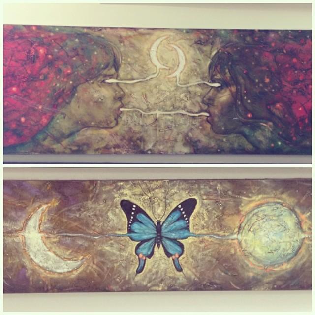 """El Secreto"" y ""Mariposa Nocturna"" de Gino Ceccarelli • Bazarte #bazarte #arteenlima #artinlima #arte #art #artist #artista #pintura #painting"