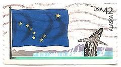 USA stamp - flags of the states - Alaska (sftrajan) Tags: usa unitedstates stamps stamp bandera series timbre ursamajor flagge postagestamp drapeau philately sello stateflags briefmarke  francobollo alaskastateflag