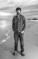 me (Emile Frey) Tags: sky dog beach 35mm canon island fishing waves seagull alabama dauphin markiii
