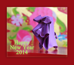 Happy New Year 2014 (steffi's) Tags: piggy pig origami schwein glücksschwein origamipig