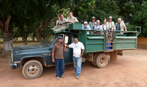 Tour participants in safari truck. Hato Piñero, Venezuela