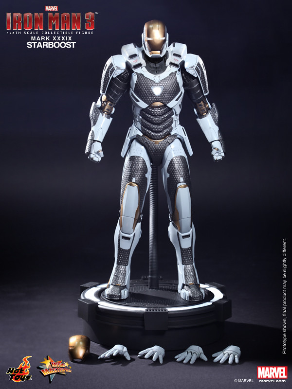 "Hot Toys – MMS214 – 鋼鐵人3:鋼鐵人馬克39亞軌道裝甲""Starboost""(Mark XXXIX)"