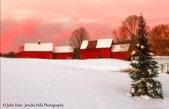 image (Jericho Hills Photography) Tags: winter sunset nature beauty vermont farm barns newengland farms pinksky redbarn winterscape winterlandscape naturephotography winterscene scenicviews vermontscenic sceniclandscape vermontfarm scenicvermont newenglandfarms johnvose jerichohillsphotography