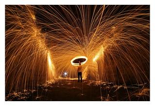 Lightpainting with steel wool 02