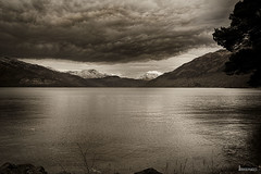 The distant snow (Photography from the soul) Tags: blackandwhite snow water landscape highlands hills final website lochlomond