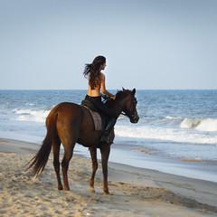 Ride out to the serene shores (ajsharma22) Tags: sea horse beach girl beauty sand waves ride bikini shore kapoor equestrian equine pondicherry 2013 marakkanam shaira ajsharma ajsharmaphotography